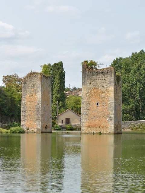 Plan de Lussac-les-Châteaux