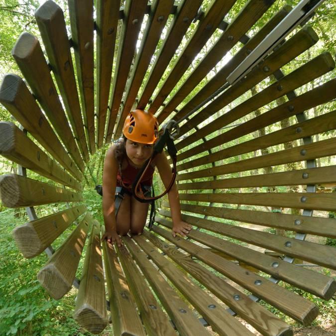 Parcours dans les arbres en Sud Vienne Poitou
